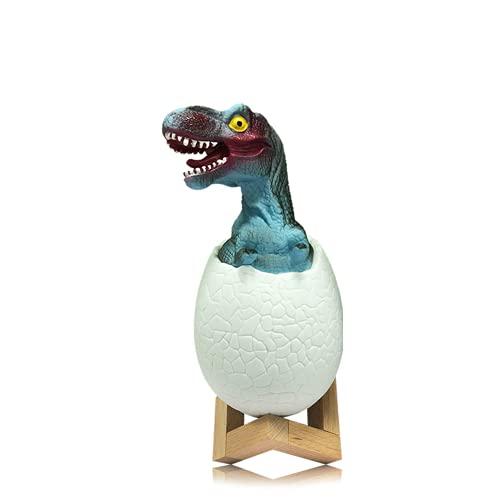 3D dinosaurie nattlampa, bärbar barn LED-lampa, 3-färgs touch/klappläge, för barn baby barnkammare nyfödd sovrum sängbord Kawaii pojke flickrum dekor present, USB-laddningsbar belysning