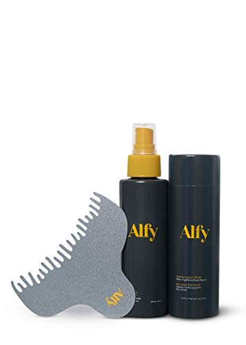 Alfy Starter Kit - Hair Fibers for Thinning Hair - Premium-Grade Keratin Hair Building Fibers for Men and Women - Hair Thickening Fibers to Help Conceal Existing Bald Spots - (Medium Blonde)