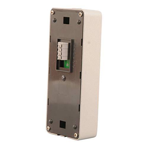 ELRO DV424W Video Türsprechanlage mit 4,3 Zoll Farbdisplay, Kamera mit Nachtsicht-4-Draht Technik, 16 Klingeltöne, Grau, One Size