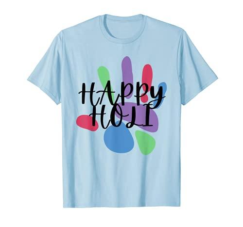 Feliz Holi Festival India Colores Hindú India Niños Mujeres Camiseta