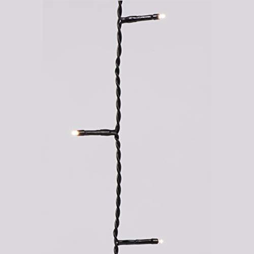 Lumineo LED Lichterkette Basic | mit Timer- und Dimmerfunktion | warmweiß | schwarzes Kabel | für Außen & Innen | Länge 1350 cm