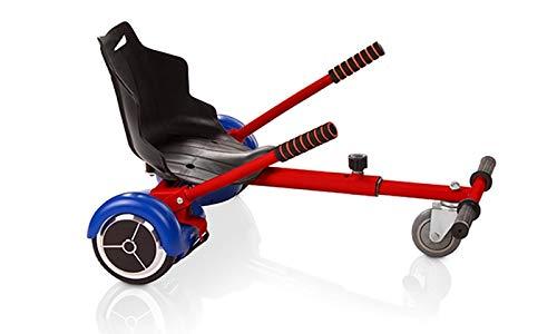 OVIBOARD Silla, Asiento de Hoverboard, Kart para Patinete, Adaptable 6.5 8 y 10 Pulgadas (Rojo)