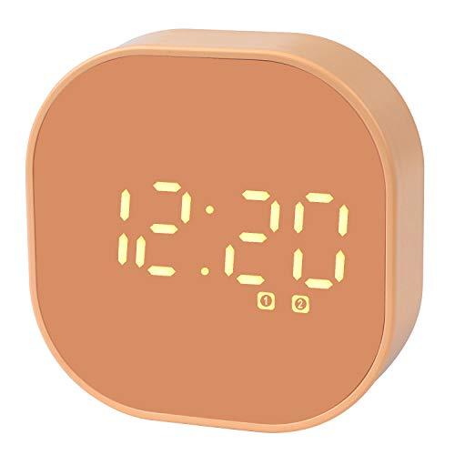 Digitaler Wecker,Tragbar Reisewecker Doppelalarm Magnetisch Smart Sensor Wecker Countdown-Timer für Küche Kompaktuhr für Schreibtisch Schlafzimmer