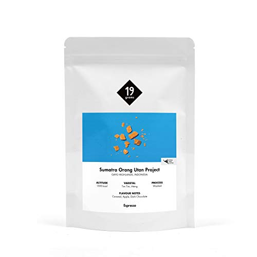 19grams Kaffeerösterei | 250g | Indonesien Sumatra Orang-Utan Kaffee | Espresso | 250g x ganze Bohnen | frisch geröstet | 100% Arabica Kaffeebohnen | specialty coffee