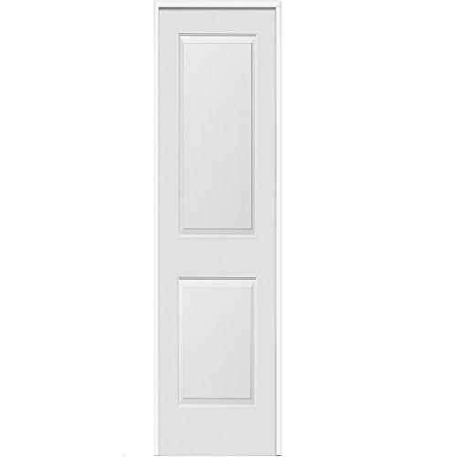 "National Door Company ZA364282R Solid Core, Primed, Molded 2-Panel, Right Hand, Prehung Interior Door, 30""x80"""