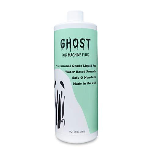 GHOST Fog Machine Fluid - High Density Fog Juice for Water Based Foggers (1 Quart) - Non-Toxic