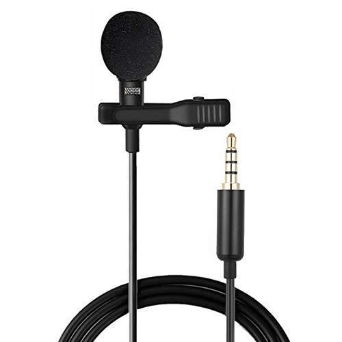 Bidema 1,5 m Mini micrófono portátil de 3.5 mm micrófono Clip Micrófono Mini micrófono de Audio for teléfono portátil Portátil de Esponja Cubierta de micrófono (Color : 3.5 mm)