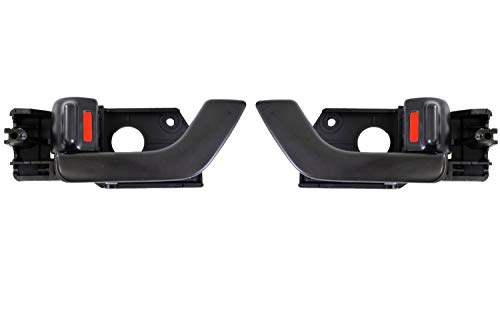 PT Auto Warehouse HY-2508A-FP - Inner Interior Inside Door Handle, Black - Front Left/Right Pair