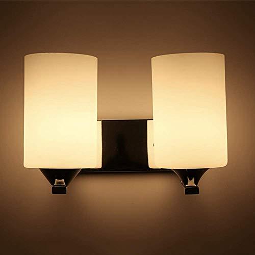 Yanqing Lamp - Moderne minimalistische slaapkamer bed-hoofd-dubbele wandlamp glaswasc metaal verlichting lamp lengte 28 cm hoog 20 cm3-5 vierkante meter woonkamer slaapkamer werkkamer