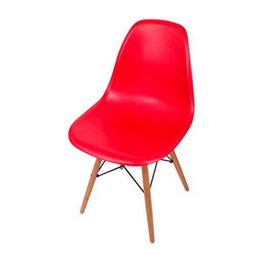Tabouret en bois Chaise de restaurant de chaise, chaise de café de mode, chaise de loisirs/rouge, noir, bleu, blanc, jaune, pourpre (Couleur : Rouge)
