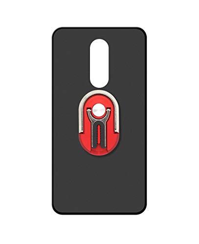 Sunrive Kompatibel mit ZTE Nubia Z11 Max Hülle Silikon,Autotelefonhalterung 360°drehbarer Ring Fingerhalter Handyhalter Handyhülle matt Schutzhülle Etui Hülle (Rot) MEHRWEG