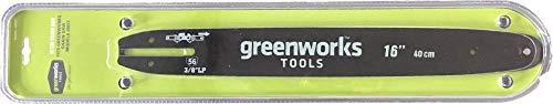 Greenworks Tools Führungsschiene 40cm, 40V DigiPro Akku Kettensäge(20077), 12x60x1.5cm - 29757, black, 12 x 60 x 1.5 cm