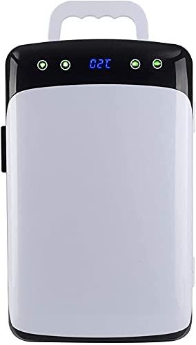 Mini Refrigerador De 12 litros con Asa, Refrigerador Portátil 2 En 1 con Función De Enfriamiento Y Calefacción, 12V DC / 220V AC para Automóviles Y Hogares, Minibar De Campamento Pequeño con Panel De