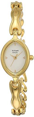 Titan Raga Analog White Dial Women's Watch -NE2370YM03