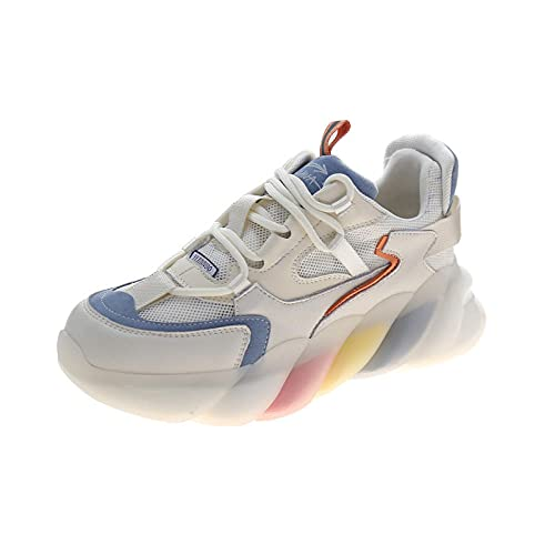 ZZLHHD Camuflajesneakers,Thinnetbreathablerainbowbottom,sportscasualwomen'sshoes-blue_37,Coolsneakers