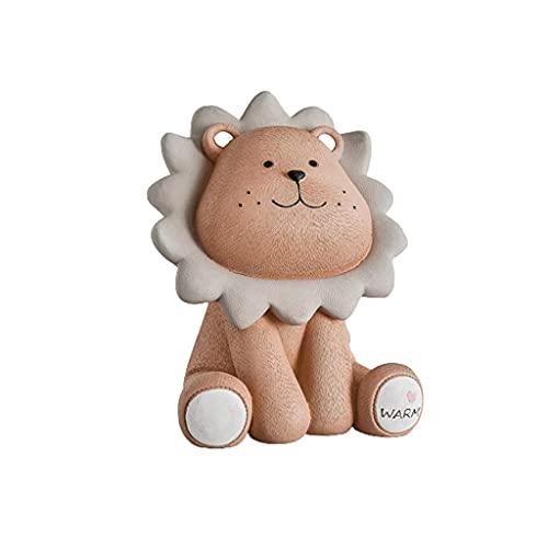 XHAEJ Creative Ciggy Banks Piggy Banque Cute Little Lion, Pièce de Monnaie Décoration Piggy Banque, Résine Creative Money Bank Garçon Bébé Enfant Enfant Tirelire
