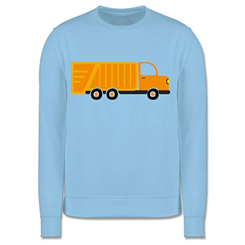 Preisvergleich Produktbild Shirtracer Fahrzeuge Kind - Müllauto - 104 (3 / 4 Jahre) - Hellblau - Pullover müllauto - JH030K - Kinder Pullover