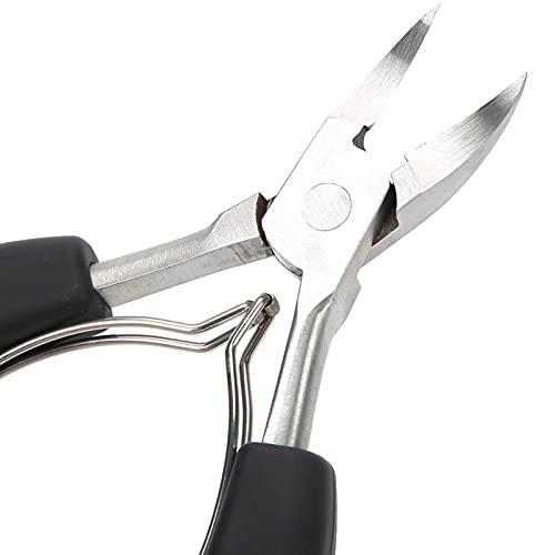 Alicates para uñas, tijeras para cutículas, herramienta de pedicura recortadora de cutículas para uñas de los pies(black)