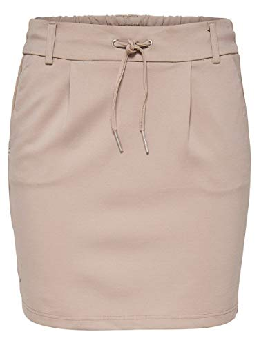 ONLY Damen Onlpoptrash Life Easy Skirt Pnt Noos Rock, Pure Cashmere, S EU