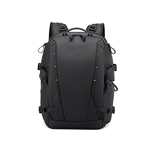 Borsa fotografica antifurto con apertura posteriore dello zaino fotografico con tracolla per treppiede, fotocamera reflex, obiettivo e zaino per accessori-Black||46*25*16cm