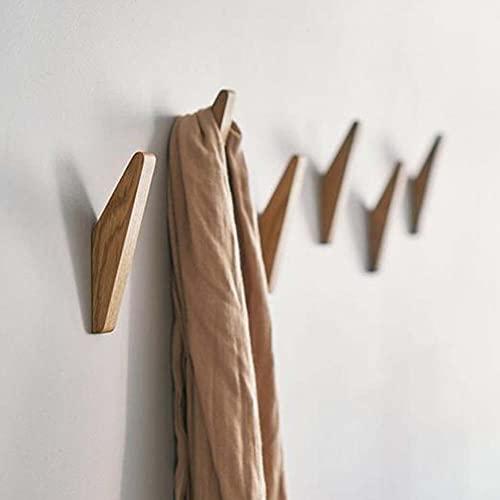 BEFAERY 4 pezzi appendiabiti in legno di faggio naturale, appendiabiti a parete per appendere cappello asciugamano accappatoio moderna decorazione rustica