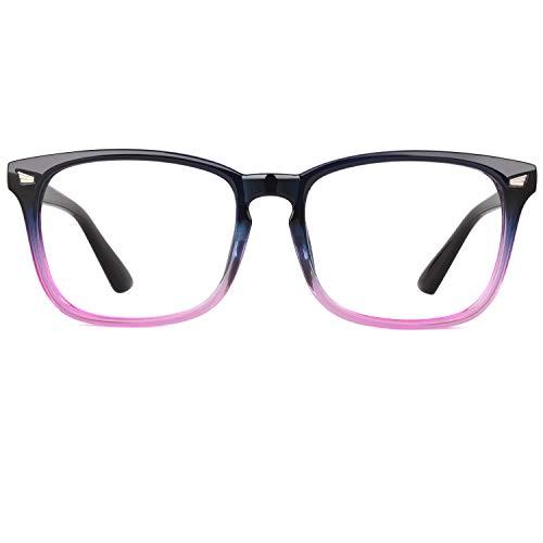 GQUEEN Fake Glasses Fashion Eyeglasses Frame Clear Glasses Women Men PE2