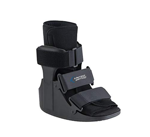 United Ortho Short Cam Walker Fracture Boot, Small, Black
