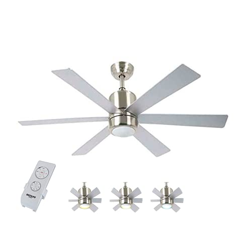 Bastilipo 7821-Mónaco Niquel Mónaco Ventilador de Techo LED con Mando a Distancia