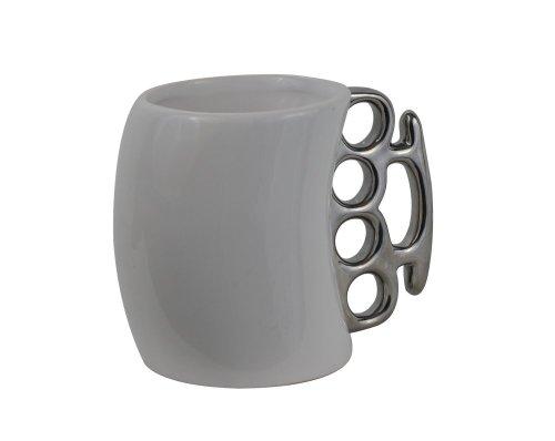 Taza de latón con forma de nudillo para café y leche, taza de cerámica