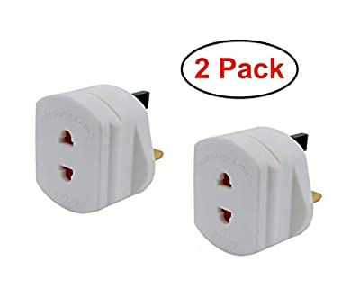 Visibee - 2 x Shaver Adaptor UK 3 Pin to 2 Pin 1A Fuse Adaptor Plug Ideal for Shaver and Toothbrush from Visibee
