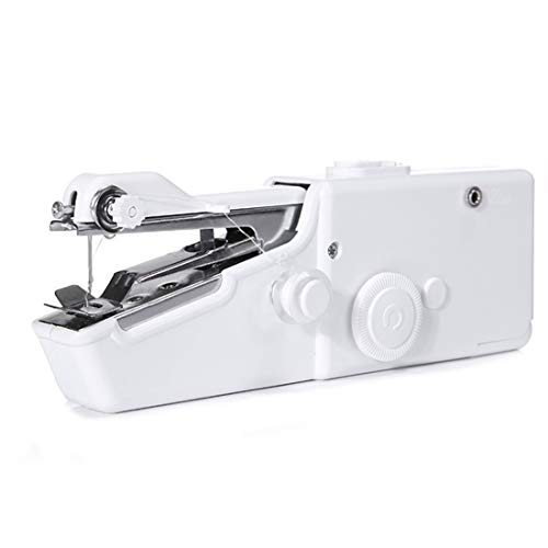 WRHM Mini máquina de Coser eléctrica portátil de Bolsillo pequeña máquina de Coser eléctrica,White