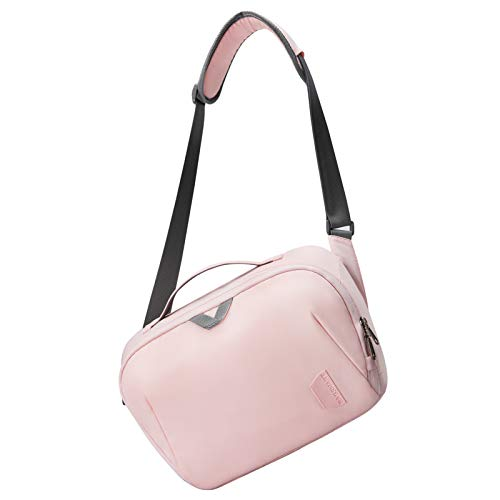 Camera Bag,BAGSMART SLR DSLR Camera Sling Bag Purse Crossbody Bag with Padded Shoulder Strap Water Resistant Anti-Theft Camera Shoulder Bag for Women, Pink