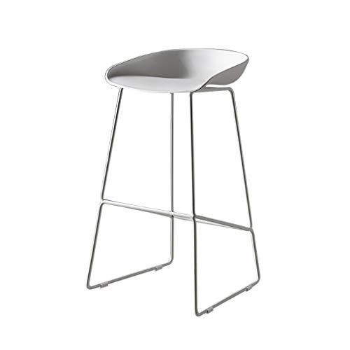 Tabouret Haut/Chaise de Cuisine/Siège/Chaise de Petit déjeuner/Tabouret de Bar Style Industriel, Siège en métal/Siège en PP, pour Pub/comptoir/Café/Cuisine/Maison
