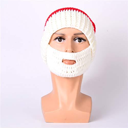TAIPPAN Kerstmuts Kerstmuts Baard Prop Set Handgemaakte Gebreide Kerstmis Party Masker Winter Warme Geschenken Voor Vrouwen En Mannen, A
