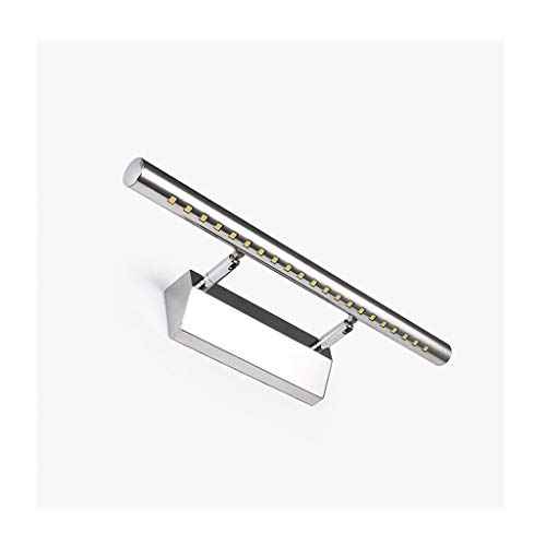 Spiegel met LED-licht, roestvrij staal, spiegel voor kledingkast, spiegelkast (editie: White Light)