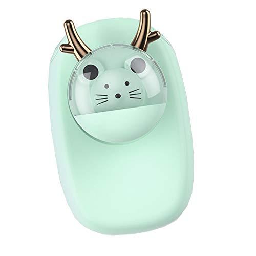 TTXS Colgante ventilador de cuello creativo de dibujos animados estudiante dormitorio mini portátil lindo mascota ventilador eléctrico duradero vida silenciosa y bajo ruido D