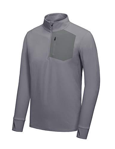 BALEAF Men's Thermal Shirts Half Zip Pullover Fleece Zip Pockets Running...