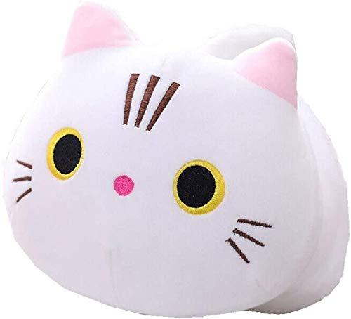 SHISAN Cartoon Plush Toy, Cat Pillow Kitten Doll Kawaii Figures Stuffed Animals for Gifts(50cm,White)