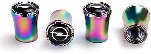 4 Stück Auto-Reifen Ventilkappen für Opel Mokka Astra Corsa H G B C, Ventil Caps mit Beschriftung, Reifenmarkierer, Wasserdicht Staubdicht Luftventilkappen