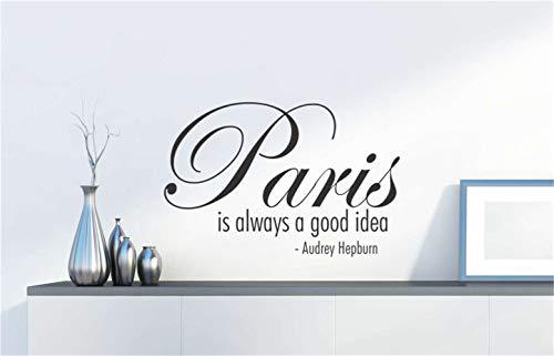 wandaufkleber babyzimmer mädchen Paris ist immer eine gute Idee für ein Schlafzimmer im Wohnzimmer