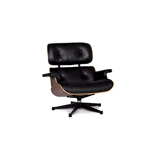 Vitra Eames Lounge Chair Leder Sessel Schwarz Charles & Ray Eames Clubsessel #11167