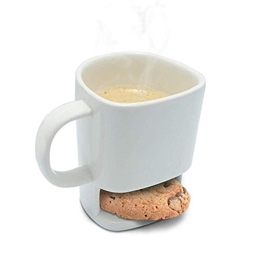 250ml Dunk Tasse–Keramik Kaffeebecher mit Keks Halter Cookies