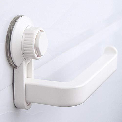 portarrollos baño Almacenamiento de baño estante de la toalla impermeable a prueba de humedad de papel higiénico fuerte Holder Ventosa Accesorios montado en la pared de la cocina-Negro Soporte para p