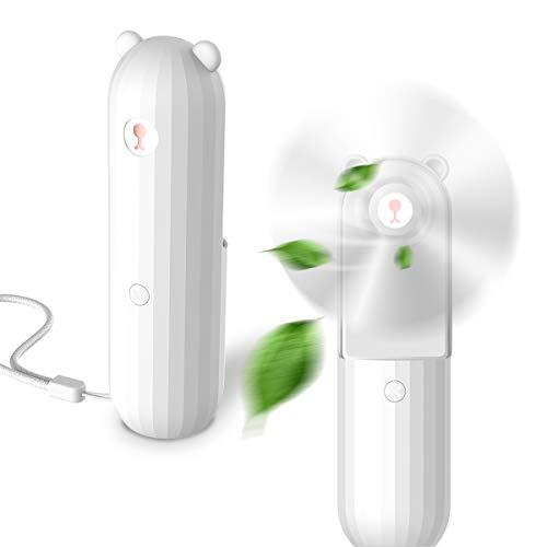 Lahuko Mini Ventilateur Portable,Ventilateur USB Rechargeable de Poche ,Ventilateur Silencieux Temps de Travail 24h, Fonction de Batterie Externe Utilisé au Camping, Bureau Voyages Placé verticalement