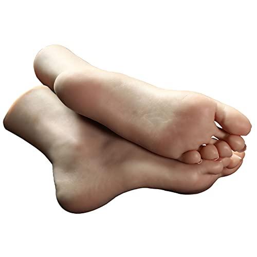 Siliconen Vrouwelijke Voeten Mannequin Voet Model Ingebouwde Bone Foot Model voor Sokken Schoenen Teen Rings Shop Retail Display 1 paar (met spijker)