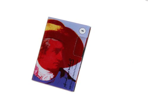 Andy Warhol by TROIKA Slim Goethe entworfen gebogen Acryl 2 fach Business Card Case für Messen