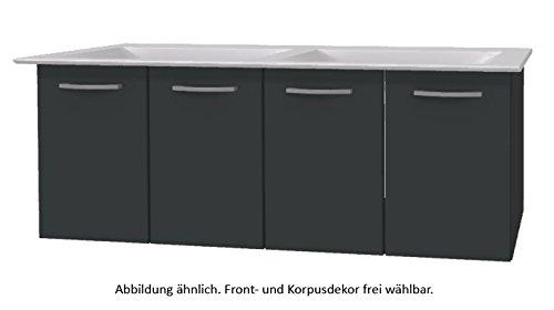 PELIPAL Solitaire 9005 Set I64-4T: Keramik Doppelbeckenwaschtisch Ideal Standard Connect Air, Weiß +