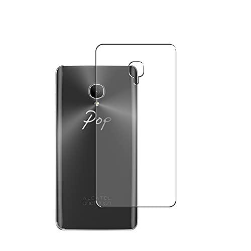 Vaxson 2 Stück Rückseite Schutzfolie, kompatibel mit Alcatel OneTouch Pop Up 6044D, Backcover Skin TPU Folie [nicht Panzerglas/nicht Front Bildschirmschutzfolie]