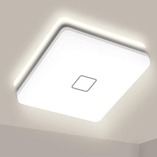 LED Deckenleuchte 24W Airand Platz Deckenlampe Bad 4000K Neutralweiß 2050LM Ø32cm helle Deckenleuchten Wasserdichte Decken Lampe IP44 LED für Badezimmer Schlafzimmer Küche Balkon Korridor Esszimmer