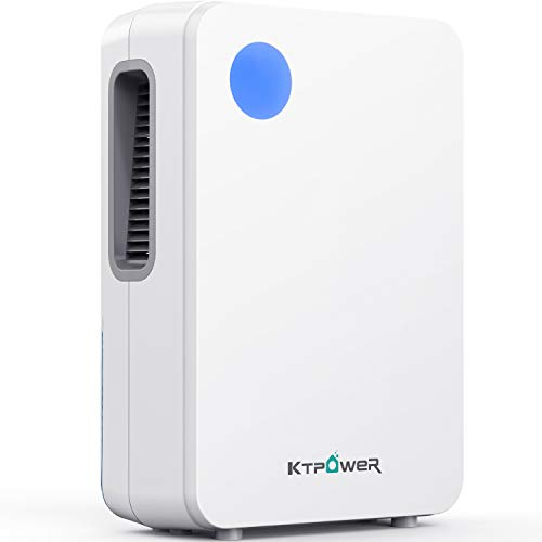 KTPOWER Electric Mini Dehumidifier for Home, 800ml (27 oz) Compact and Portable 2000 Cubic Feet (192 sq ft) Quiet Dehumidifiers for Bedroom, Office, Bathroom, Basement, Caravan, RV - Auto Shut Off